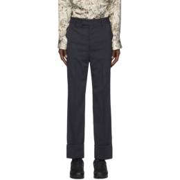 Opening Ceremony Navy Wool Stripe Trousers YMCA004F20FAB0024601