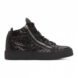 Giuseppe Zanotti Design Black High Glitter May London Sneakers RM90001 81977