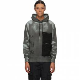 Neighborhood Black and Blue Thermochromic Hoodie 201UWNH-CSM04