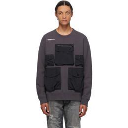 Neighborhood Grey Heavys Crewneck Sweatshirt 201FPNH-CSM15