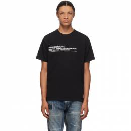 Neighborhood Black Logic T-Shirt 201PCNH-ST10