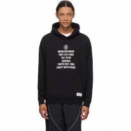 Neighborhood Black Tight Hoodie 201MBNH-CSM06