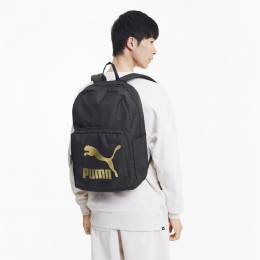 Puma - Рюкзак Originals Backpack – Puma Black-Gold – OSFA 4062453789242