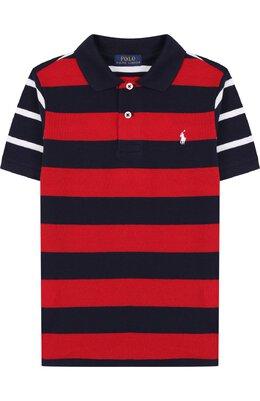 Хлопковое поло в контрастную полоску Polo Ralph Lauren 322692271