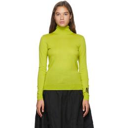 Nina Ricci Green Wool Logo Turtleneck 20AMPU018ML0462