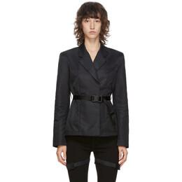 1017 Alyx 9Sm Black Belted Blazer AAWTA0041FA01.F20