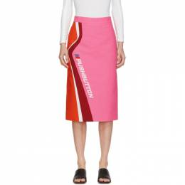 Pushbutton Pink and Orange Logo Skirt PB2030403W