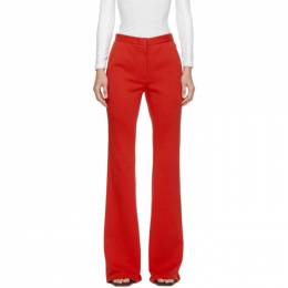Pushbutton SSENSE Exclusive Red Flared Trousers PB2030301W