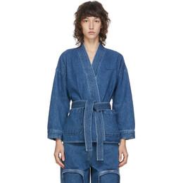 Pushbutton Blue Denim Kimono Jacket PB2030114W