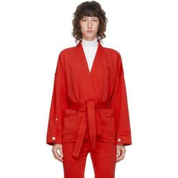 Pushbutton SSENSE Exclusive Red Kimono Jacket PB2030113W