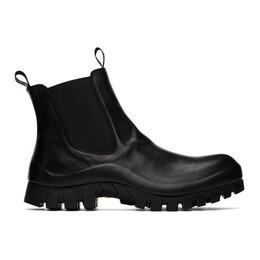 Officine Creative Black Cleantrek 1 Chelsea Boots OCUCLEK001