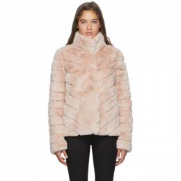 Yves Salomon Pink Crop Rex Rabbit Fur Coat 20W20WYV30762REXX