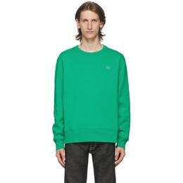 Acne Studios Green Fairview Patch Sweatshirt 2HL173
