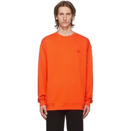 Acne Studios Orange Fairview Patch Sweatshirt CI0010