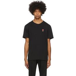 Ami Alexandre Mattiussi Black Ami De Coeur T-Shirt A20HJ108.723