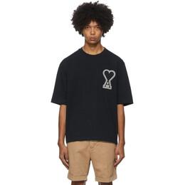 Ami Alexandre Mattiussi Black Ami De Coeur T-Shirt A20HJ137.726