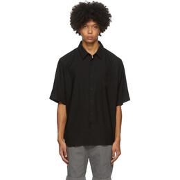 Ami Alexandre Mattiussi Black Summer Fit Short Sleeve Shirt A20HC209.406