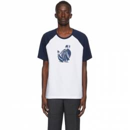 Lanvin Blue and White Jeanne T-Shirt RM-JE0028-JR31-A20