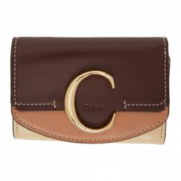 Chloe Brown Small Chloe C Tri-Fold Wallet CHC20AP058D09