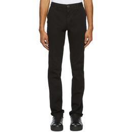 Ami Alexandre Mattiussi Black Chino Trousers A20HT619.248