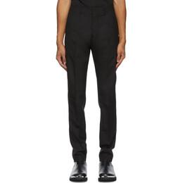 Ami Alexandre Mattiussi Black Cigarette Fit Cuffed Hem Trousers A20HT004.207
