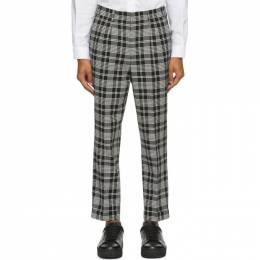 Ami Alexandre Mattiussi Black and White Carrot Fit Cuffed Hem Trousers A20HT402.203