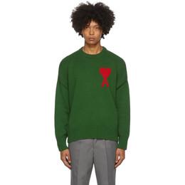 Ami Alexandre Mattiussi Black Ami De Coeur Crewneck Sweater A20HK009.006