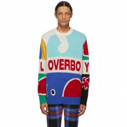 Charles Jeffrey Loverboy Multicolor Knit Logo Graphic Sweater COREAW20LLGJ