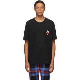 Charles Jeffrey Loverboy Black Art Gallery T-Shirt COREAW20LAGT