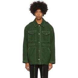 Ami Alexandre Mattiussi Green Patch Pockets Jacket A20HOW105.208