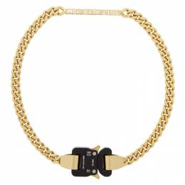 1017 Alyx 9Sm Gold Buckle Necklace AAUJW0032OT01.F20