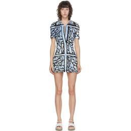 Fendi Blue Joshua Vides Edition Terrycloth Short Dress FAF145 ADHI F1C20
