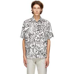 Fendi White Joshua Vides Edition Silk Short Sleeve Shirt FS0795 ABIZ