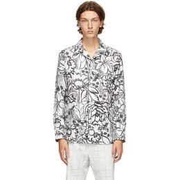 Fendi White Joshua Vides Edition Silk Shirt FS0747 AC8S