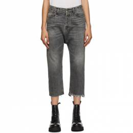 R13 Black Tailored Drop Jeans R13W6452-549A