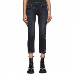 R13 Black Boy Straight Jeans R13W0091-186D