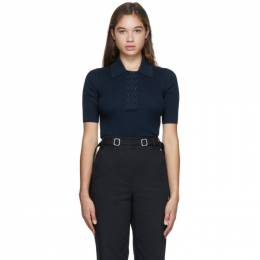 Proenza Schouler Navy and Black Knit Marl Polo WL2037438
