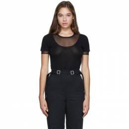 Proenza Schouler Black Layered Short Sleeve T-Shirt WL2037434