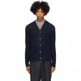 Marni Navy Alpaca Links Cardigan CDMG0038A0 S17322