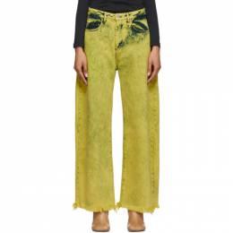 Marques Almeida Yellow Boyfriend Jeans PRE20TR0014DND