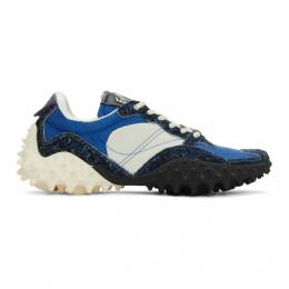 Eytys Off-White and Blue Suede Fugu Sneakers FUSA