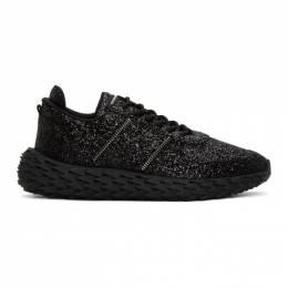 Giuseppe Zanotti Design Black Glitter Urchin Sneakers RU00037-86702