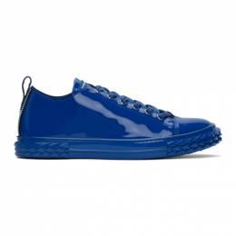 Giuseppe Zanotti Design Blue Patent Blabber Sneakers RU00012-86561