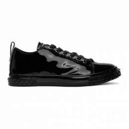 Giuseppe Zanotti Design Black Patent Blabber Sneakers RU00012-86563