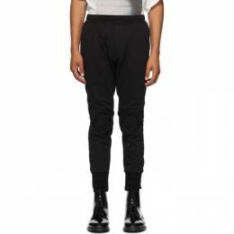 Julius Black Open Knee Lounge Pants 707PAM13