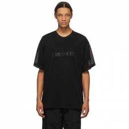 Julius Black Mesh Layer T-Shirt 707CUM9
