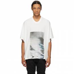 Julius White Cropped Avalanche T-Shirt 707CPM2
