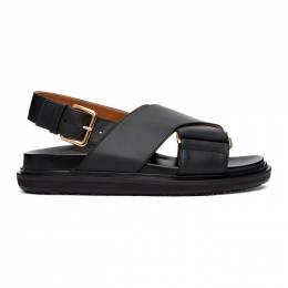 Marni Black Fussbett Sandals FBMS005201P3614