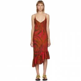 Collina Strada Red Swirl Rose Michi Dress XX4381