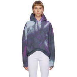 Collina Strada Multicolor Spiral Tie-Dye Round Hem Hoodie XX8370